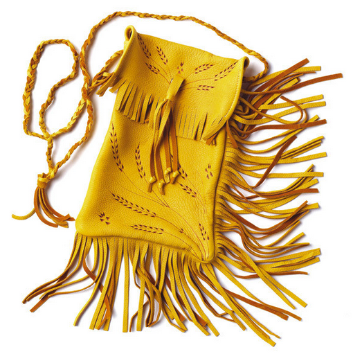 Deerskin Purse with Fringe