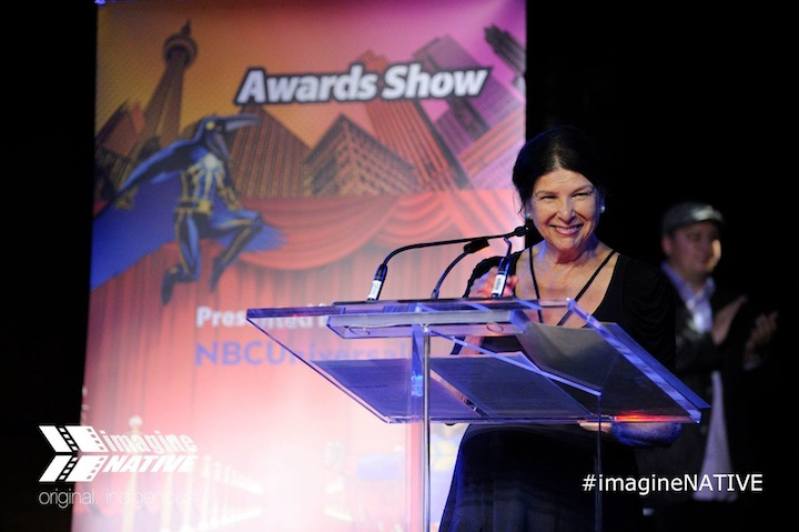 Awards - Kaniehtiio Horn. Photo by Dominic Chan